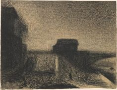 Georges Seurat 1859-1891 Approach to the Bridge at Courbevoie