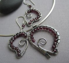 Valentine's Day Special/ Silver Wire Heart Set with by mese9