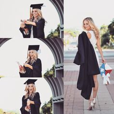 Graduation & Prom Dresses - fascinating colours and styles Graduation Picture Poses, College Graduation Pictures, Graduation Portraits, Graduation Photoshoot, Graduation Photography, Nursing Graduation, Grad Pics, Grad Pictures, Graduation Outfits