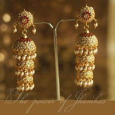 How To Clean Gold Jewelry With Vinegar Mughal Jewelry, India Jewelry, Jewelry Design Earrings, Indian Jewellery Design, Royal Jewelry, Gold Jewelry, Rajputi Jewellery, Traditional Earrings, Indian Wedding Jewelry