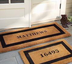 Personalized Doormat #potterybarn - for front door with 28717 for Cashiers zip code