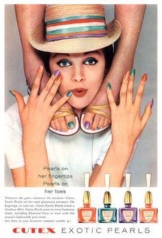 New Vintage Ads Nail Polish Ideas Vintage Makeup Ads, Vintage Nails, Retro Makeup, Vintage Vanity, Vintage Beauty, Retro Vintage, 1960s Makeup, Vintage Glamour, Vintage Items