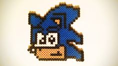 Check it out! Sonic the hedgehog drink coaster from Jessica's Perler Crafts.