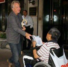 August 2008 -- Alan Rickman at Loews Regency Hotel, New York. I love this photo.!! :-)