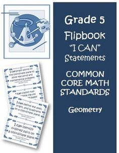 """Fifth Grade Math Common Core Super Bundle I Can Statements and Resources. All the """"I Can"""" statements on cards for you to use in your 5th grade math class!  $"""