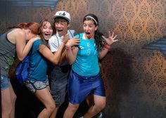 Reactions of people @ the Nightmares Fear Factory in Niagara Falls, Canada.  Go to the site! These photos are hilarious!