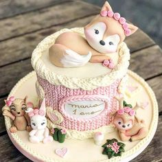 Discover our quick and easy recipe for Yoghurt Cake with Cook Expert on Current Cooking! Baby Cakes, Baby Shower Cakes, Girl Cakes, Cute Cakes, Pretty Cakes, Beautiful Cakes, First Birthday Cakes, Birthday Cake Girls, Cookies Cupcake
