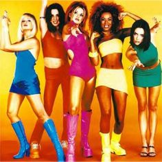 Spice Girls serving you 60's gogo realness. And PoshVictoria rocking some serious anachronistic thigh-gappage.