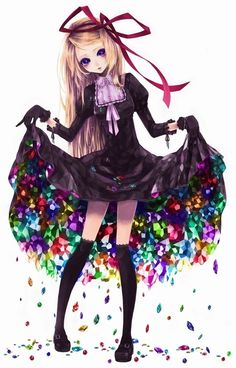 #anime women who wear black have the most colorful lives
