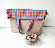 Jute Handloom Foldover Tote Bag Jute Fabric, Crossbody Bag, Tote Bag, Everyday Bag, Custom Bags, Travel Gifts, Casual Bags, Handmade Bags, Mother Gifts