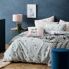 Home Republic - Frenchie Quilt Cover Set Sage Duvet, Home Republic, Quilt Cover Sets, Pink Color, Sage, Comforters, Cushions, Quilts, Blanket