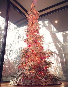 i really want this flocked tall skinny tree!  seen at NAT THE FAT RAT