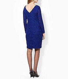 Lauren Ralph Lauren Plus Floral Lace Dress #Dillards