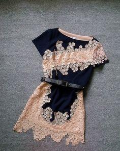 Cute hollow out fashion dress