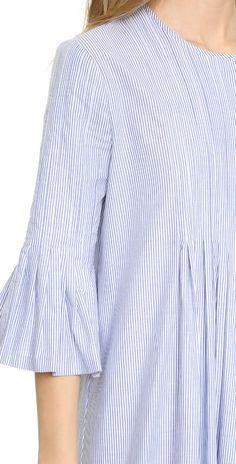 Cynthia Rowley Pintuck Ruffle Dress   SHOPBOP