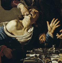 Michelangelo Caravaggio, The Tooth Puller (c. Baroque Painting, Baroque Art, Italian Baroque, Classic Paintings, European Paintings, Contemporary Paintings, Italian Painters, Italian Artist, Rembrandt