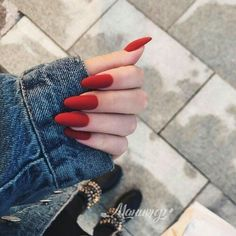 A manicure is a cosmetic elegance therapy for the finger nails and hands. A manicure could deal with just the hands, just the nails, or Perfect Nails, Gorgeous Nails, Pretty Nails, Cute Red Nails, Minimalist Nails, Cute Acrylic Nails, Glitter Nails, Red Glitter, Nagel Gel