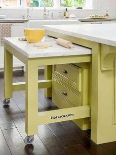 portatif-ahsap-mutfak Hamur Açma masasi