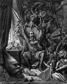 El Quijote de Gustave Dore (Se puede ver lo importante que ha sido su figura no solo literaria si no también para servir de inspiracion)