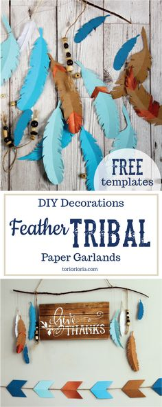 Feather Tribal Paper Garlands