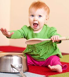 Activities to Enhance Baby's Physical Development: 6-9 Months: Don't Be Afraid of Noise (via Parents.com)