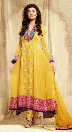 Exquisite Yellow Salwar Kameez