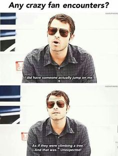 I'd climb you like a tree too, Misha.  <<<< Repinning for that comment alone