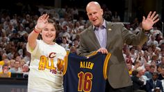The Cleveland Cavaliers took a moment before their playoff game against the Detroit Pistons to honor a local 11-year-old girl. Last month, Allison Allen sent a letter to Canton of…