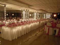 Head Table with underlighting