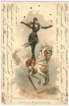 atrandomlatenight:  turnofthecentury:  Souvenir from the Barnum & Bailey, Greatest Show on Earth_   Illustration by E. Gailemo