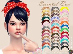 Studio K Creation - Oriental head bow for The Sims 4