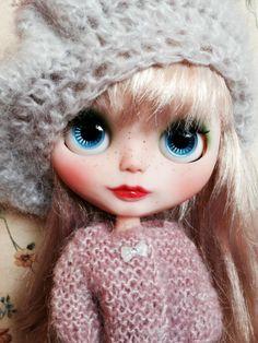 OOAK Custom Blythe Doll - Blonde - Licca Body -with Handmade Dress #Blythe