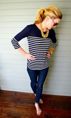 C. Style Blog-What to wear with navy stripes
