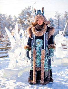 Designer: Avgustina Filippova ( photo: A. Folk Clothing, Historical Clothing, Costume Ethnique, Theatre Costumes, Folk Costume, Central Asia, World Cultures, Fashion Photography, Film Photography