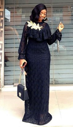 Source by fashion dresses African Lace Styles, Latest African Fashion Dresses, African Dresses For Women, African Print Fashion, African Attire, Women's Fashion Dresses, Nigerian Fashion, Woman Dresses, Lace Dress Styles