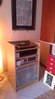 #Vinyl_Record_Storage_Stand_Natural_oak ΞΥΛΟΥΡΓΕΙΟ ΚΑΦΡΙΤΣΑΣ