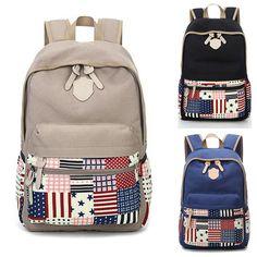 Mochila da moda feminina de lona bolsa ombros Meninas Mochila College Travel Bags # | Roupas, calçados e acessórios, Bolsas e sacolas femininas, Mochilas e bolsas escolares | eBay!