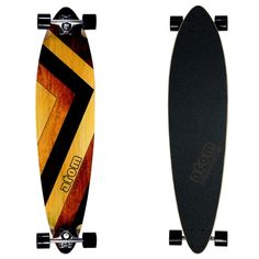 """Atom Woody 39"""" Pintail Longboard Atom Longboards, Pintail Longboard, Entry Level, Concave, Heat Transfer, Woody, Breeze, Deck, Carving"""