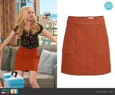 Liv's orange skirt on Liv and Maddie.  Outfit Details: https://wornontv.net/59916/ #LivandMaddie