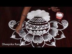 Best Rangoli Design, Simple Rangoli Designs Images, Small Rangoli Design, Beautiful Rangoli Designs, Rangoli Patterns, Rangoli Designs Diwali, Kolam Rangoli, Easy Rangoli, Girls Frock Design