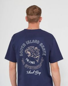 The Idle Man South Island Skate T-Shirt Navy #StyleMadeEasy