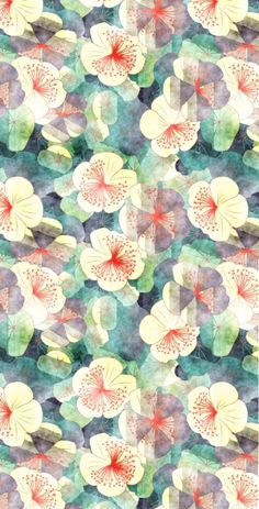 pattern- this is a good example of pattern because of the many repeating of flowers in the panting. The flowers continue t come one after another. Not only are the flowers repeating but the same colors are to, the blue, red green and white are all repeating through the painting to.