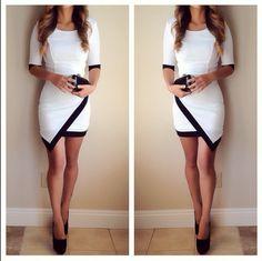 Asymmetrical Lucy Dress - White