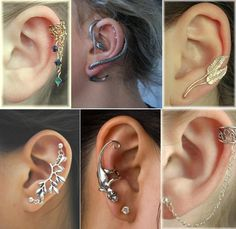 Amazing cartilage piercing ideas. Which one do you like the most?