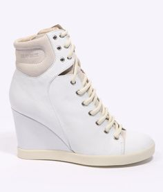 See By Chloe White Suede Lace-Up Sneakers