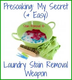 I love to presoak my kids' stained clothing. Simple but effective for removing stains, a perfect combination!