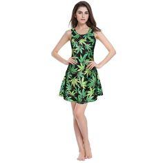 bc1afc62b41 2015 New 3D print cute robe green leaves desigual slim summer summer dress  vintage womens sexy dresses party night club dress Price  US  12.99   piece