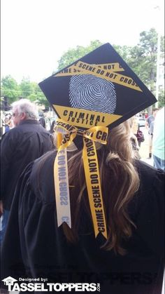 Criminal justice is the system of practices and institutions of governments directed at upholding social control, deterring and mitigating crime, or sanctioning those who violate laws with criminal penalties and rehabilitation efforts. You're ready to tak Disney Graduation Cap, Funny Graduation Caps, Graduation Cap Designs, Graduation Cap Decoration, Graduation Diy, Graduation Pictures, Graduation Celebration, Decorated Graduation Caps, Funny Grad Cap Ideas