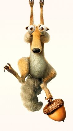 ↑↑TAP AND GET THE FREE APP! Movies Scrat Beige Cartoon Ice Age Funny Cute Crazy Animal Squirrel Acorn HD iPhone 6 plus Wallpaper
