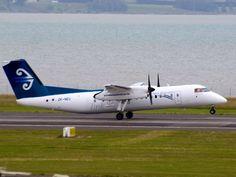 Air New Zealand Link (Air Nelson) Type: De Havilland Canada Dash 8 Registration: ZK-NEU Location: Auckland International Airport Date: Air New Zealand, Classic Image, International Airport, Auckland, Motorbikes, Planes, Trains, Aircraft, Canada